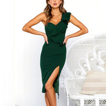 Load image into Gallery viewer, Fashion Plain Sleeveless Bodycon Dress