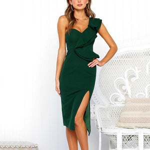 Fashion Plain Sleeveless Bodycon Dress