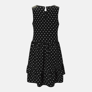 Summer Dot Printed A-Line Ruffle Mini Dress