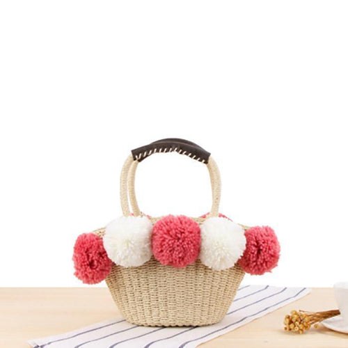 Lovely Wool Ball Shoulder Bag Handbag