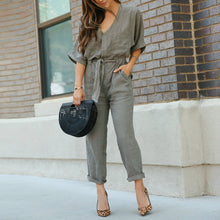 Load image into Gallery viewer, Army Green New Style Fashion Casual Jumpsuit
