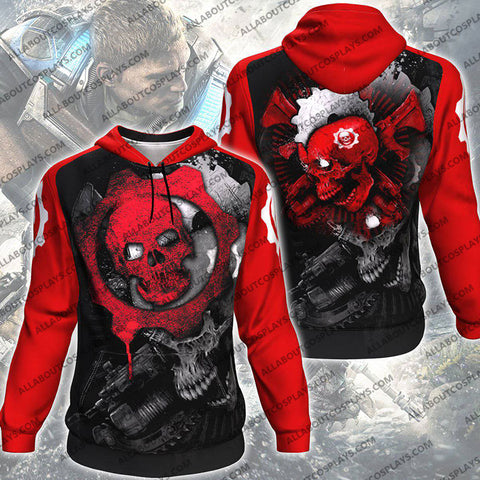 Gears Of War V2 All Over Print Pullover Hoodie