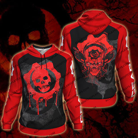 Gears Of War All Over Print Pullover Hoodie