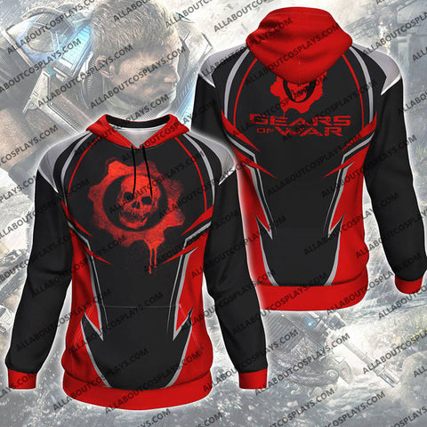 Gears Of War All Over Print Pullover Hoodie P