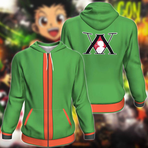 Hunter X Hunter Gon Freecss Zip Up Hoodie Jacket