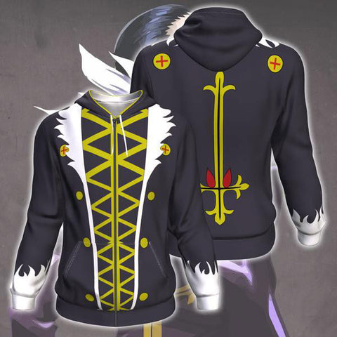 Hunter X Hunter Kuroro Lucifer Zip Up Hoodie Jacket