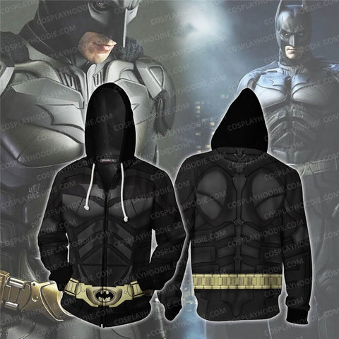 Batman Cosplay Zip Up Hoodie Jacket