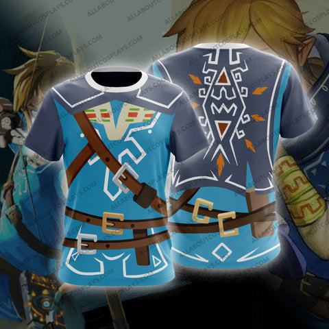 The Legend of Zelda Breath of the Wild Link Cosplay T-Shirt