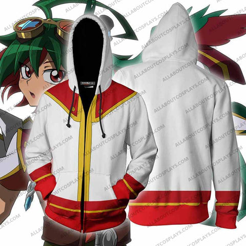 Yu-Gi-Oh! Yuya Sakaki Cosplay Zip Up Hoodie Jacket
