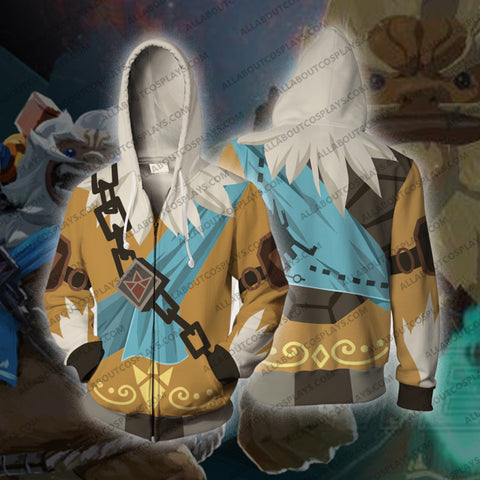 The Legend of Zelda Breath of the Wild Daruk Cosplay Zip Up Hoodie Jacket