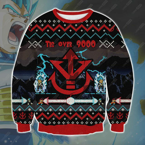 DRAGON BALL VEGETA 3D PRINT UGLY CHRISTMAS-SWEATSHIRT V3