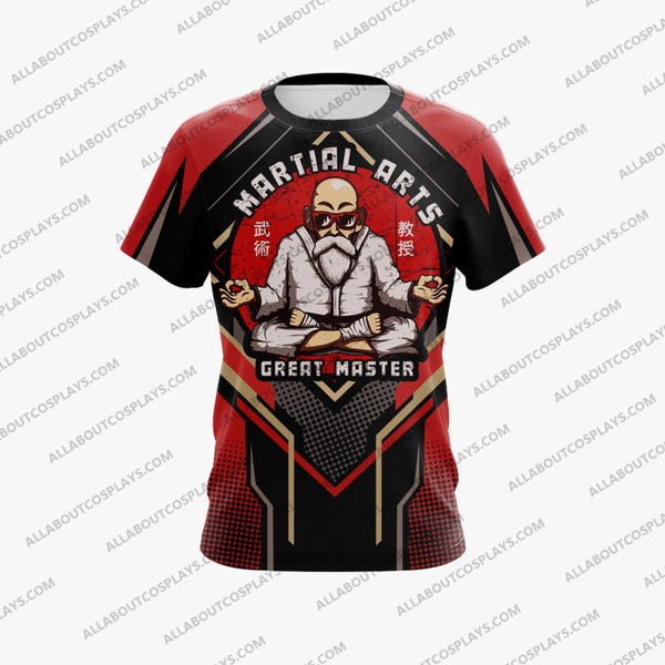 Dragon Ball Master Roshi Red Cosplay T-shirt