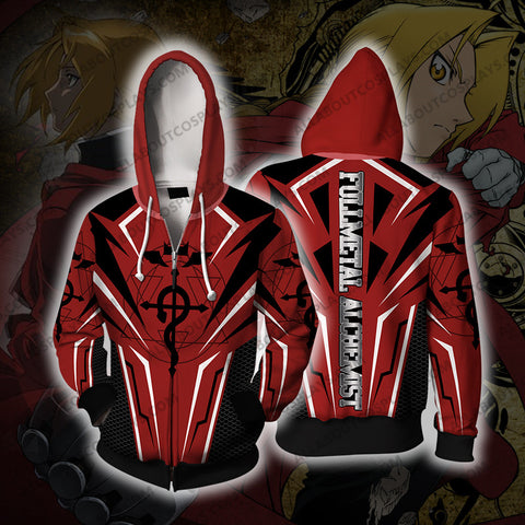 Fullmetal Alchemist Edward Ellick Zip Up Hoodie