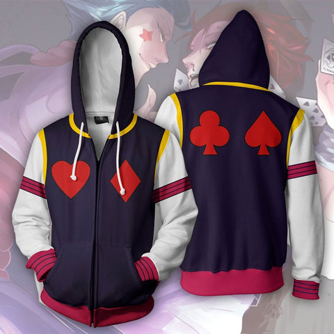 HUNTER X HUNTER  Hisoka Morow Hero Zip Up Hoodie Jacket