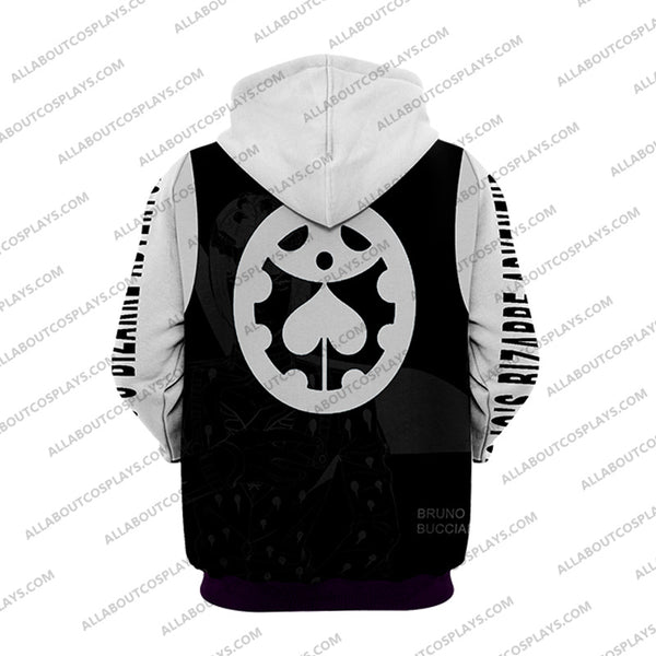 Jojo's Bizzare Adventure Golden Wind Bruno Bucciarati White Cosplay Hoodie Jacket