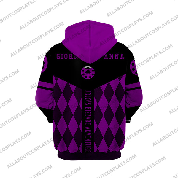 Jojo's Bizzare Adventure Golden Wind Giorno Giovanna-1 Cosplay Hoodie Jacket