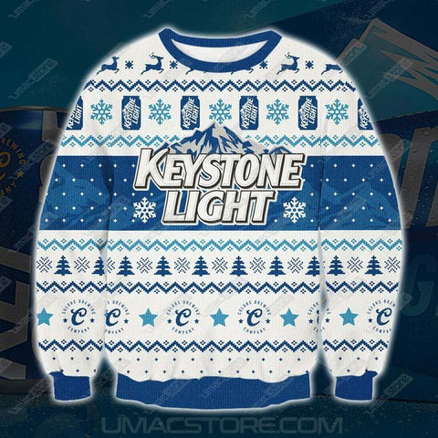 KEYSTONE LIGHT BEER 3D PRINT UGLY CHRISTMAS SWEATSHIRT