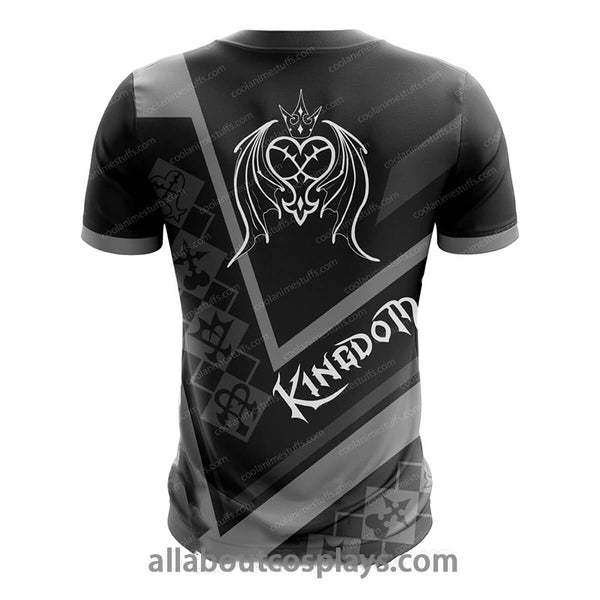 Kingdom Hearts Enemy Fusion Black T-shirt M2