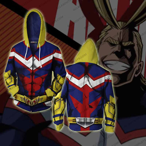 My Hero Academia All Might  Cosplay  Zip Up Hoodie Jacket