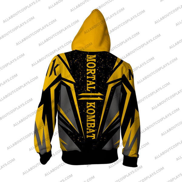 Mortal Kombat 11 Cosplay Zip Up Hoodie Yellow M1