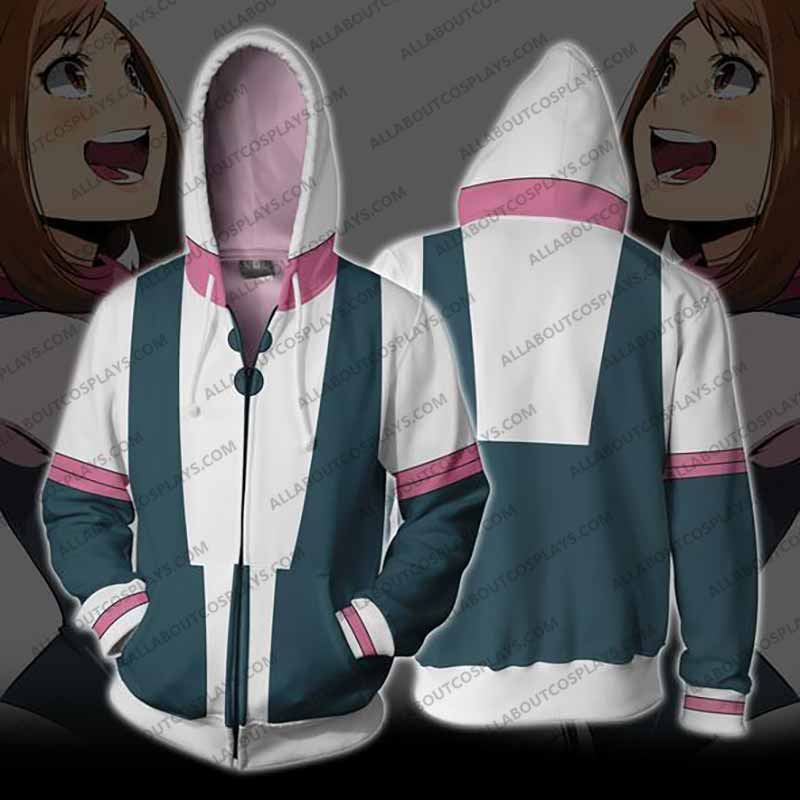 My Hero Academia Ochaco Uraraka Zip Up Hoodie Jacket