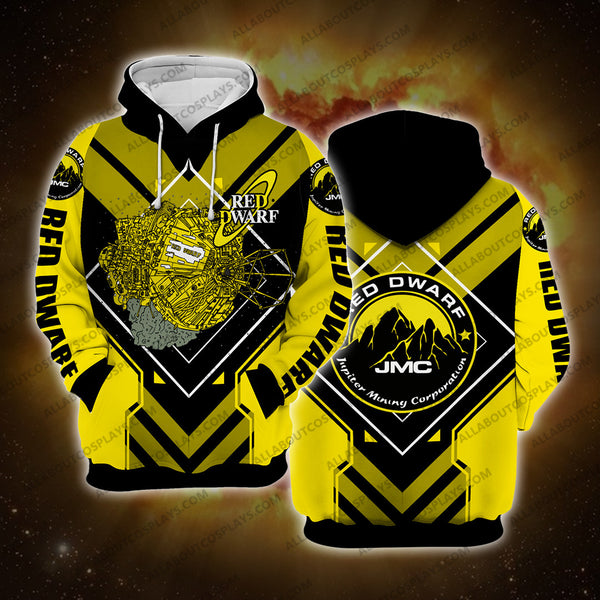 Red Dwarf Yellow Hoodie