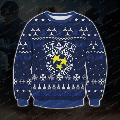 S.T.A.R.S. 1998 RESIDENT EVIL 3D PRINT UGLY CHRISTMAS SWEATSHIRT