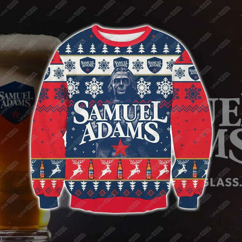 Samuel Adams 3D Print Ugly Christmas Sweatshirt