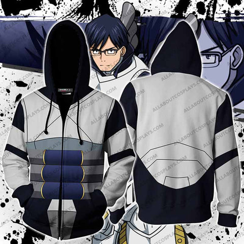 My Hero Academia Tenya Iida Cosplay Zip Up Hoodie Jacket
