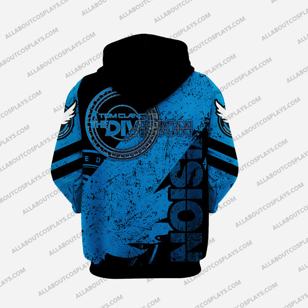 The Division Blue Cosplay Hoodie D5