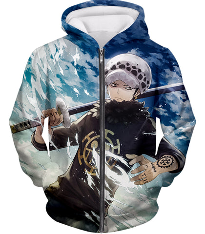 Trafalgar·Law one piece zip up  hoodie
