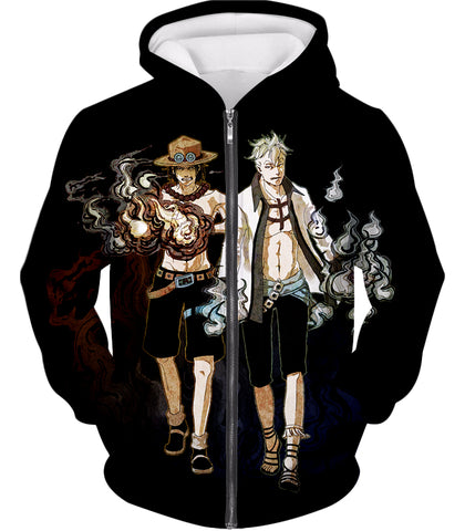 Whitebeard Pirates one piece zip up  hoodie