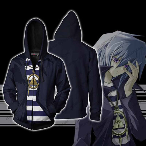 Yu-Gi-Oh! Ryo Bakura Cosplay Zip Up Hoodie Jacket
