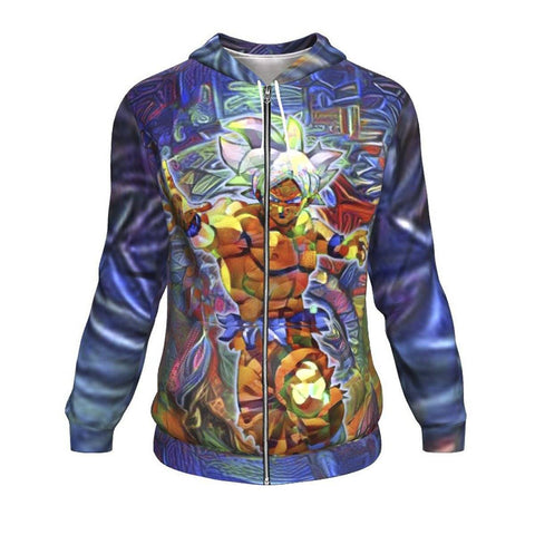 ABSTRACT DRAGON BALL Z Zip Up HOODIE