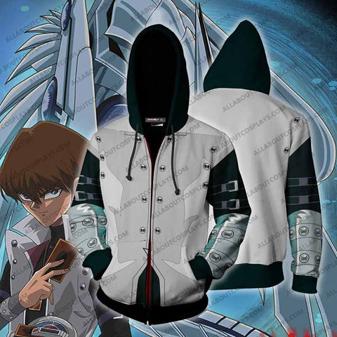Yu-Gi-Oh! Kaiba Seto Hoodie Cosplay Jacket Zip Up