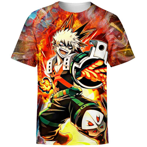 Blazing Bakugo My Hero Academia T-Shirt