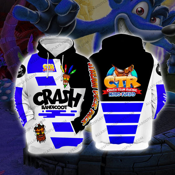 Crash Bandicoot Blue Cosplay Hoodie