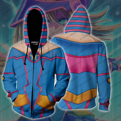 Yu-Gi-Oh! Dark Magician Girl Cosplay Zip Up Hoodie Jacket