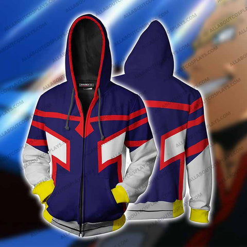My Hero Academia Young All Mighty Cosplay Zip Up Hoodie Jacket