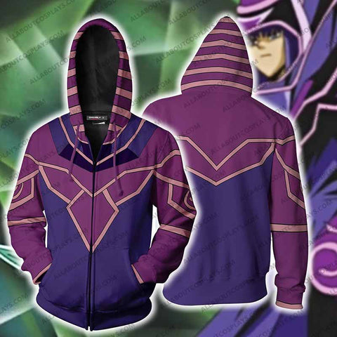 Yu-Gi-Oh! Dark Magician (Male) Cosplay Zip Up Hoodie Jacket