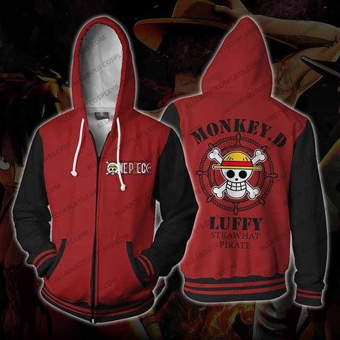 One Piece Monkey. D Luffy Zip Up Hoodie