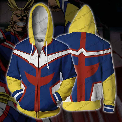 My Hero Academia All Might Zip Up Hoodie Jacket