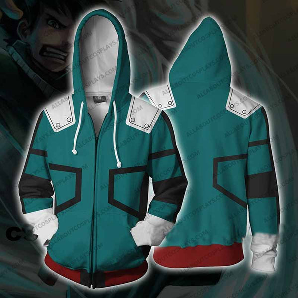 My Hero Academia Izuku Midoriya Jacket Zip Up Hoodie