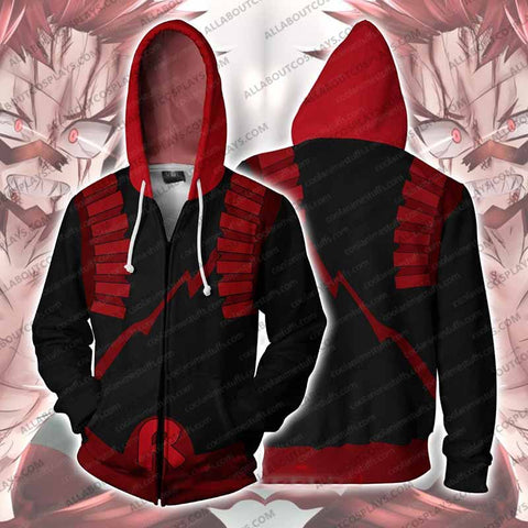 My Hero Academia Eijiro Kirishima Zip Up Hoodie