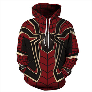 Iron Spider Man Suit 3D Hoodie Sweatshirt