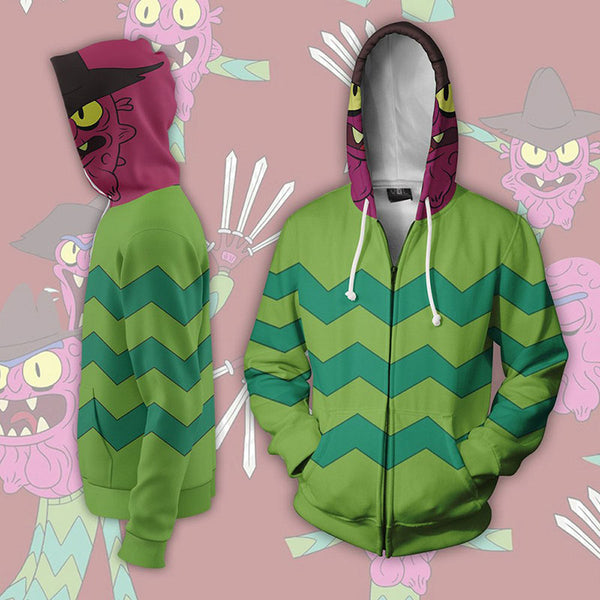 Rick And Morty Zip Up Hooded Jacket