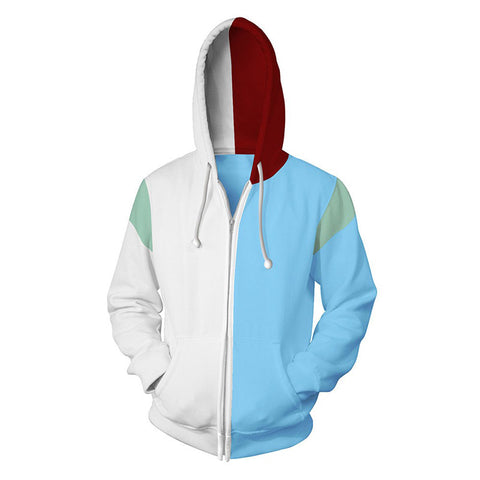 My Hero Academia Hoodies - Todoroki Shoto 3D Zip Up Hoodie Jacket Coat