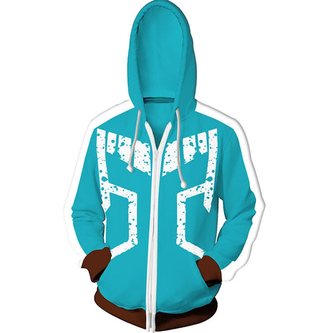 My Hero Academia Hoodies - Izuki Midoriya 3D Hoodie Zipper Jacket Coat