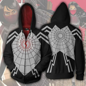 Spiderman Hoodie - Silk Spider Cindy Moon 3D Zip Up Hoodies Jacket Coat