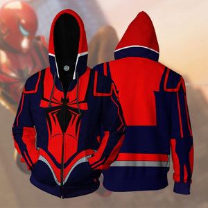 Spiderman Hoodie - Spider-Armor MK III PS4 Jacket 3D Zip Up Hoodies Cosplay Costume